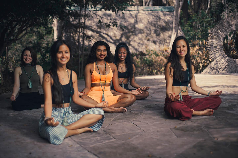 Mala meditation rosary 108 beads Moksha Yoga Anmazonica Rejuvenation Peru Teacher Training