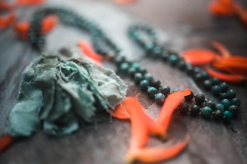 Mala meditation rosary 108 beads Moksha Yoga Anmazonica Rejuvenation Peru
