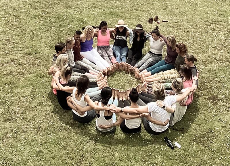 Moksha Yoga Amazonica meditation circle experiential excursion yoga teacher training